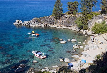 Secret Cove, a beach in Lake Tahoe, Nevada Stock Photo