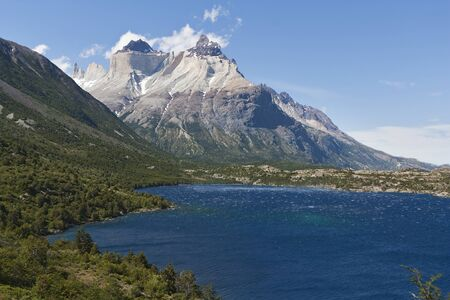 torres del paine: Lake Pehoe from the trail. Parque Nacional Torres del Paine, Chile