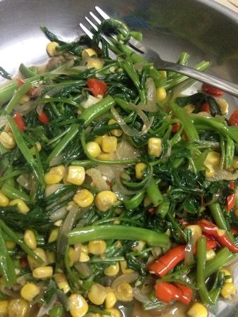 veg: Spicy green veg