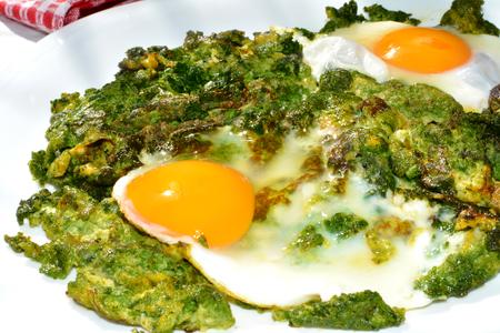 Poached Eggs Stock Photo