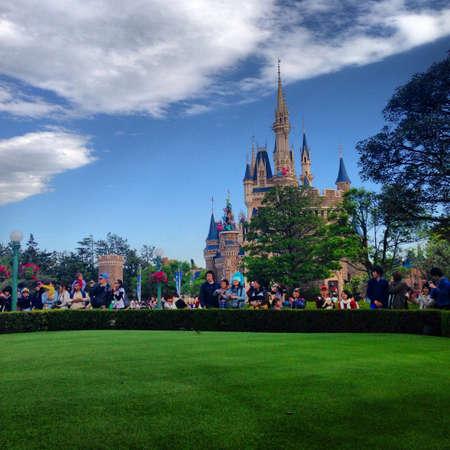 disneyland: Tokyo Disneyland castle Stock Photo