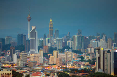 Slightly defocused image of Kuala Lumpur skyline photo