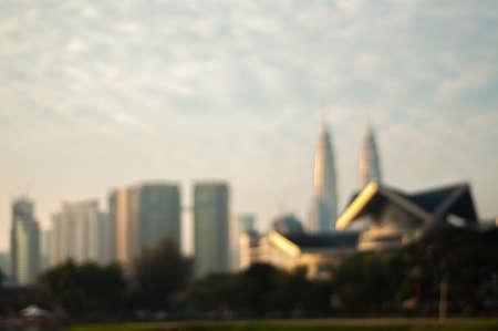 Blur image of Kuala Lumpur City photo