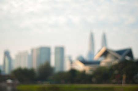 Blur image of Kuala Lumpur City Stock Photo