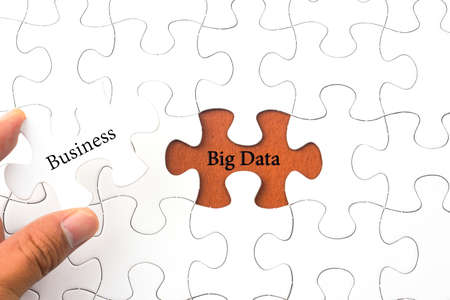 dataset: Puzzle with word Big Data - Business concept Stock Photo