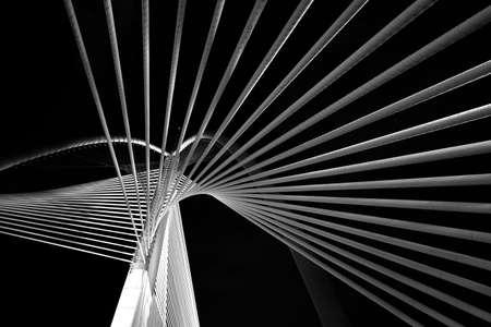 modern bridge: Modern bridge architecture Stock Photo