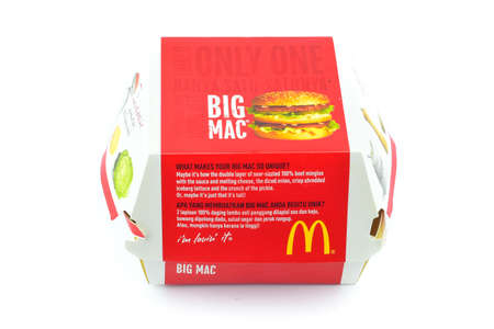 Kuala Lumpur, Malaysia-March 26, 2016: Big Mac burger in the box. McDonalds Corporation is the worlds largest chain of hamburger fast food restaurants Editorial
