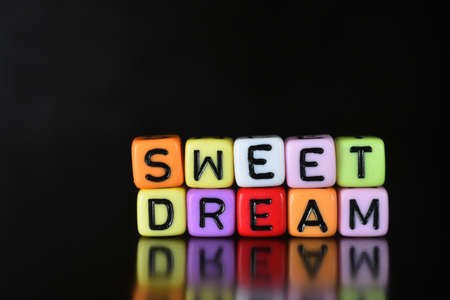 sleepover: Sweet Dream on dice Stock Photo