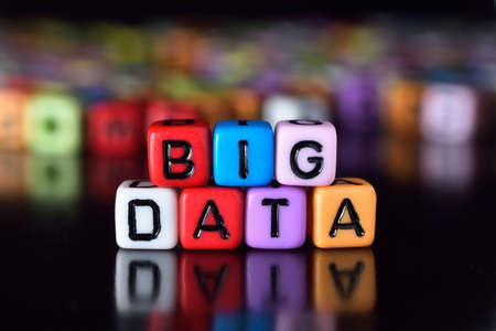interdisciplinary: Big Data on colorful dice Stock Photo