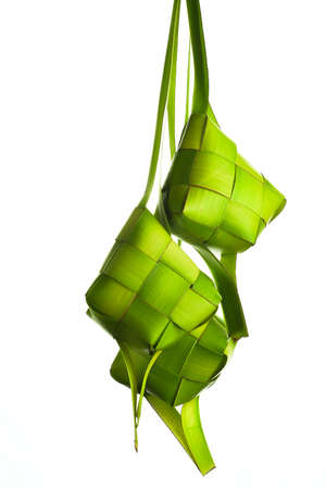 Ketupat isolated on white