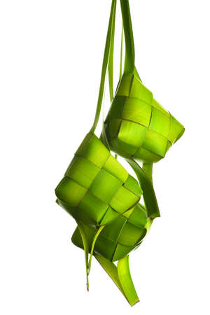 aidilfitri: Ketupat (Rice Dumpling). Ketupat is a natural rice casing made from coconut leaf.