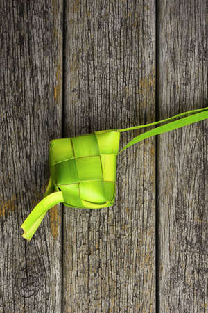 the casing: Ketupat (Rice Dumpling). Ketupat is a natural rice casing made from coconut leaf.