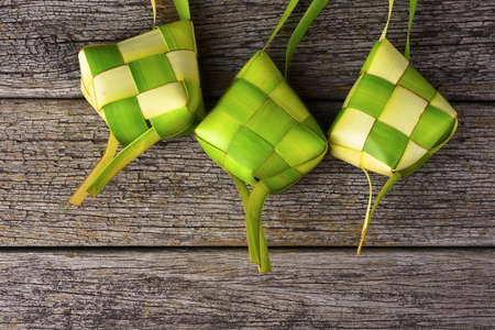 Ketupat (Rice Dumpling). Ketupat is a natural rice casing made from coconut leaf.