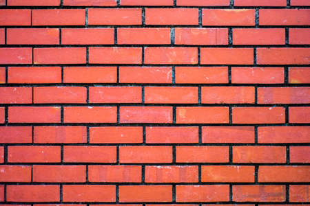 Background of red brick wall pattern texture