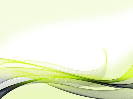 green lines: A set of bluegreen gradient dynamic waves and lines with light green background on bottom and top Stock Photo