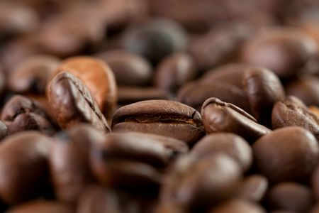 savour: A close up shoot of a bunch of coffee beans