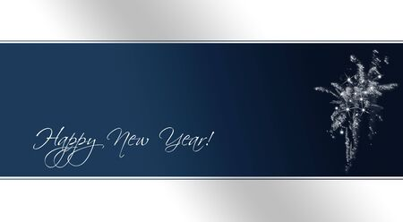 A card as template for new years eve invitations with fireworks (text included as path) photo