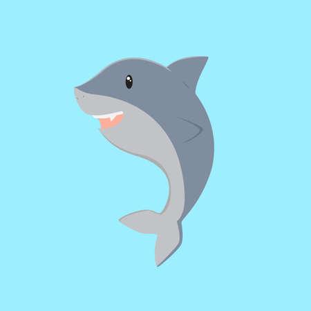 Cute happy shark Illustration
