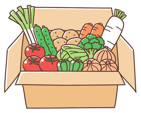 Vegetable boxed