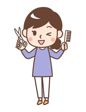 Haircut woman