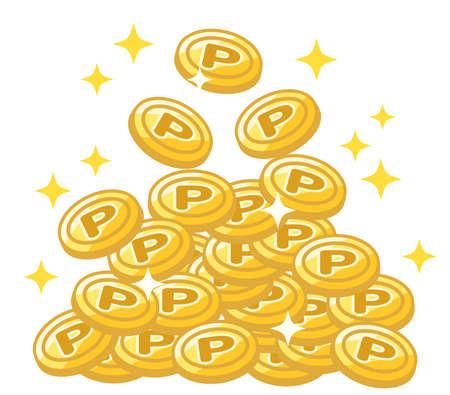 Points to get off (coins) Vektorgrafik
