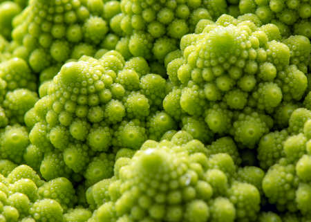 Romanesco, vegetable with a repeated construction called fractal geometry Reklamní fotografie