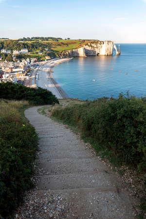 Cliffs of Etretat, Normandy, north of France, Europe. 版權商用圖片