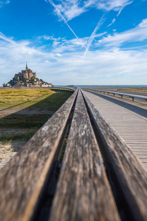 Only access road to Mont Saint Michael. Access is restricted, it can only be accessed by bus, horse carriage and vehicles with special permission for supply and cleaning. Access is also allowed on foot or by bicycle.