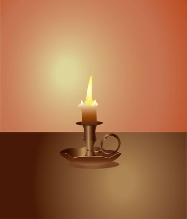 night table: candle on the table