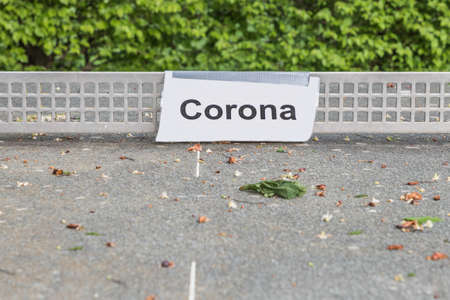 Corona virus quarantine lockdown of playground table tennis. Closure by prohibition sign. Covid-19 safety prevention action containing pandemic spread risk. Corona virus restriction law regulation