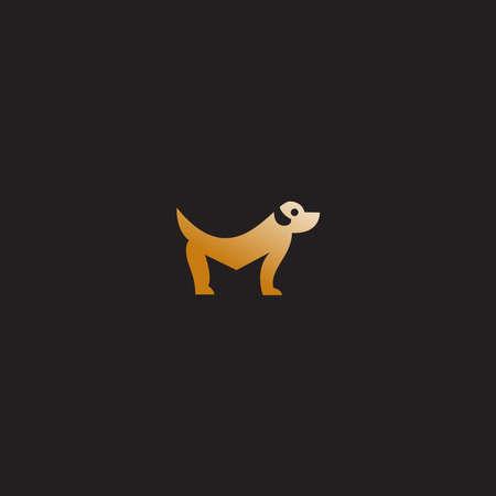 letter M dog vector design template download
