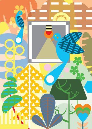 illustration of Blue bird Banco de Imagens - 130398755