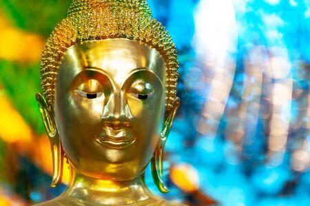 Buddha face at Wat Tha Ga Rong Ayutthaya, Thailand.