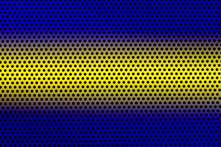 Perforated stainless steel, background.