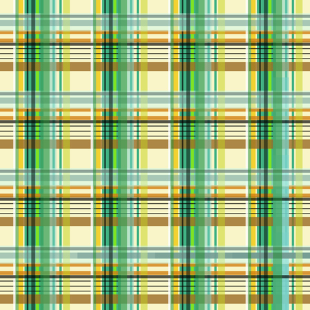 Plaid green, white and beige, seamless tileable digital graphic Stock Photo
