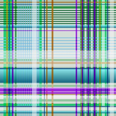 Plaid green, blue, purple, turquoise and white
