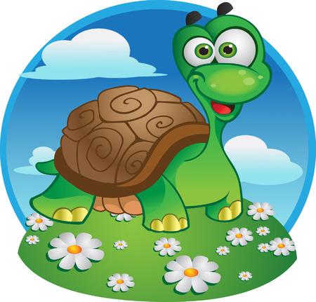 tortue de terre: vecteur de tortue Illustration
