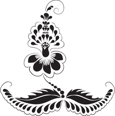 delicate ornament Flower from granules Ukrainian traditional ornament