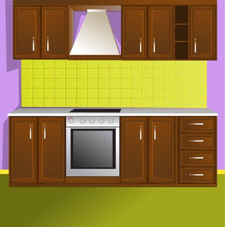 armarios: Cocina  Vectores