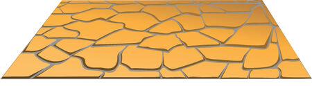 stone masonry in perspective Vector