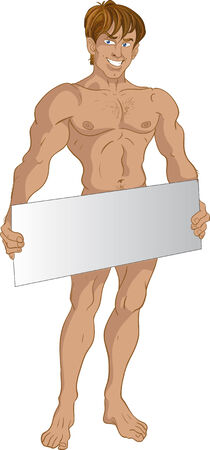 nude mann: Nude blond Momtcheto Textbereich
