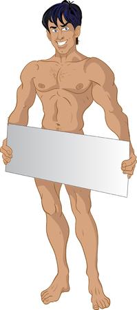 nude mann: nude brunette Momtcheto Textbereich