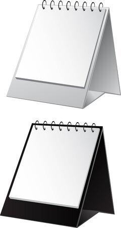 book binding: empty background for presentation calendar on the spring  Illustration