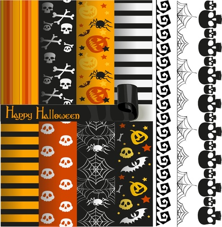 compendium: Happy Halloween paper and lace for scrapbook