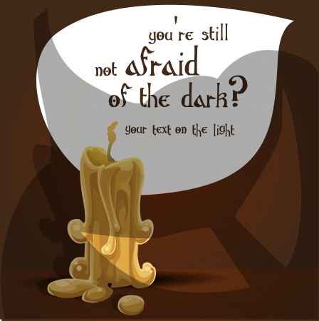 You re still not afraid of the dark  Halloween banner Vector