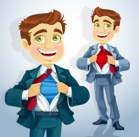 open shirt: Super business man Illustration