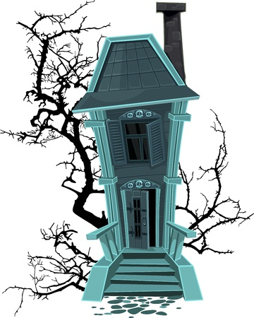 haunted house: Halloween witch house