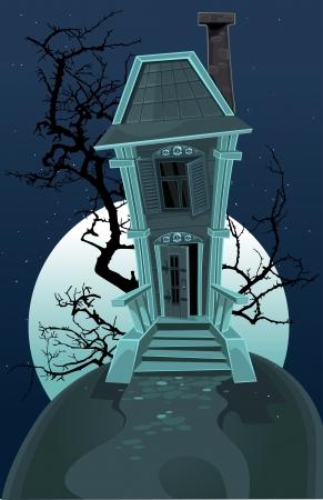spooky graveyard: Haunted halloween house