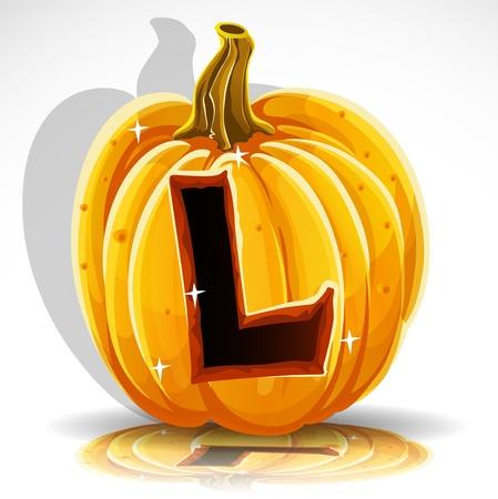 comidas saludables: Feliz Halloween de fuente recortar L calabaza carta