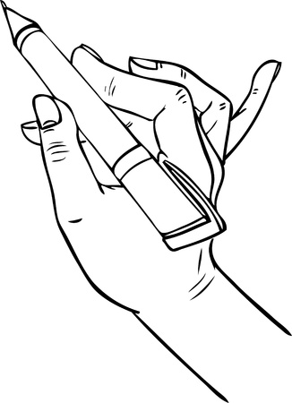 hand writing pen Vector
